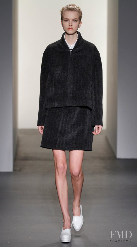 Merethe Hopland featured in  the Calvin Klein 205W39NYC fashion show for Autumn/Winter 2011