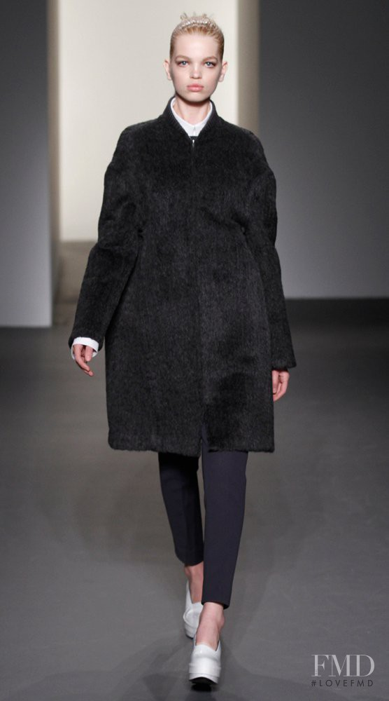 Daphne Groeneveld featured in  the Calvin Klein 205W39NYC fashion show for Autumn/Winter 2011