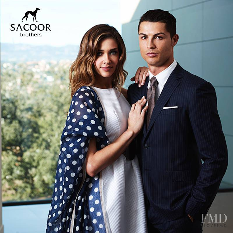 Ana Beatriz Barros featured in  the Sacoor Brothers advertisement for Spring/Summer 2015