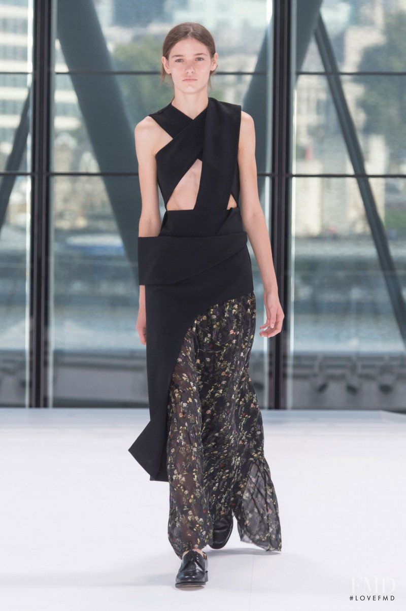 Inga Dezhina featured in  the Preen by Thornton Bregazzi fashion show for Spring/Summer 2016