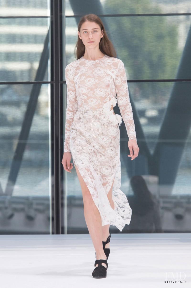 Sofia Tesmenitskaya featured in  the Preen by Thornton Bregazzi fashion show for Spring/Summer 2016