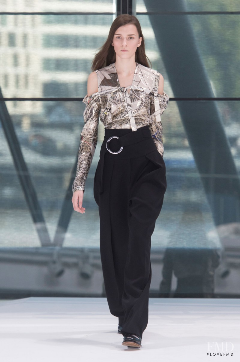 Irina Djuranovic featured in  the Preen by Thornton Bregazzi fashion show for Spring/Summer 2016