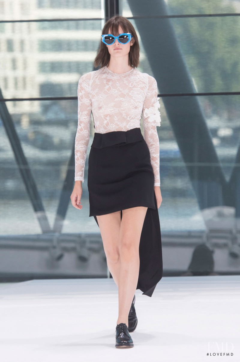Sam Rollinson featured in  the Preen by Thornton Bregazzi fashion show for Spring/Summer 2016