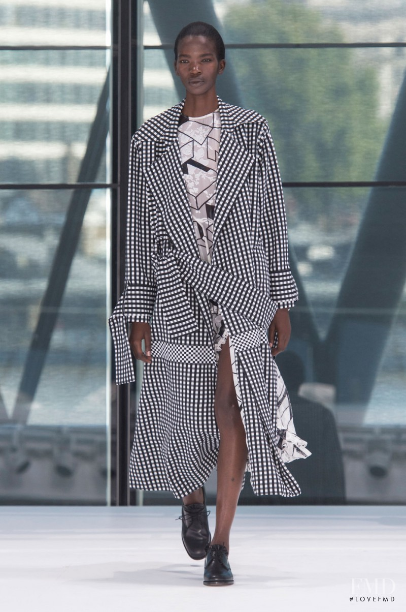 Aamito Stacie Lagum featured in  the Preen by Thornton Bregazzi fashion show for Spring/Summer 2016