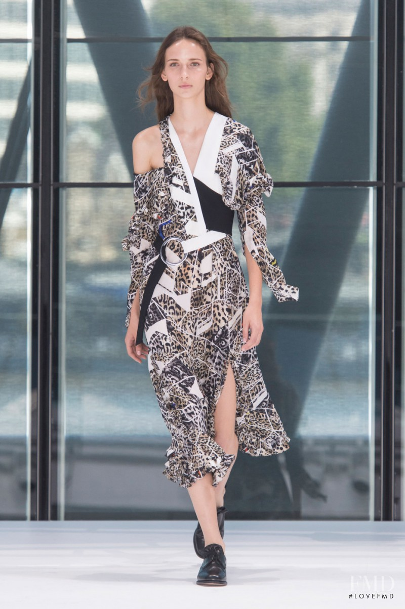 Waleska Gorczevski featured in  the Preen by Thornton Bregazzi fashion show for Spring/Summer 2016