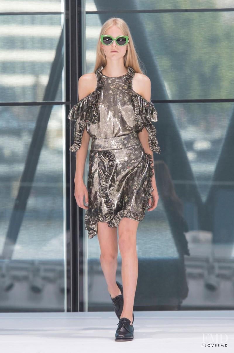 Kirin Dejonckheere featured in  the Preen by Thornton Bregazzi fashion show for Spring/Summer 2016