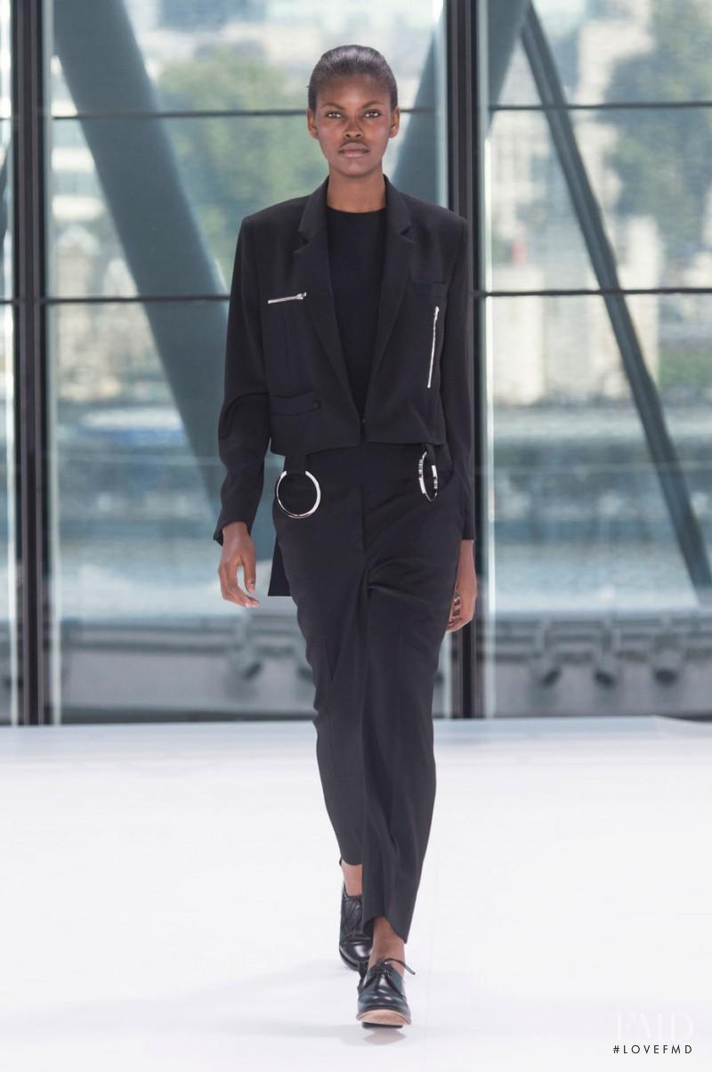 Amilna Estevão featured in  the Preen by Thornton Bregazzi fashion show for Spring/Summer 2016