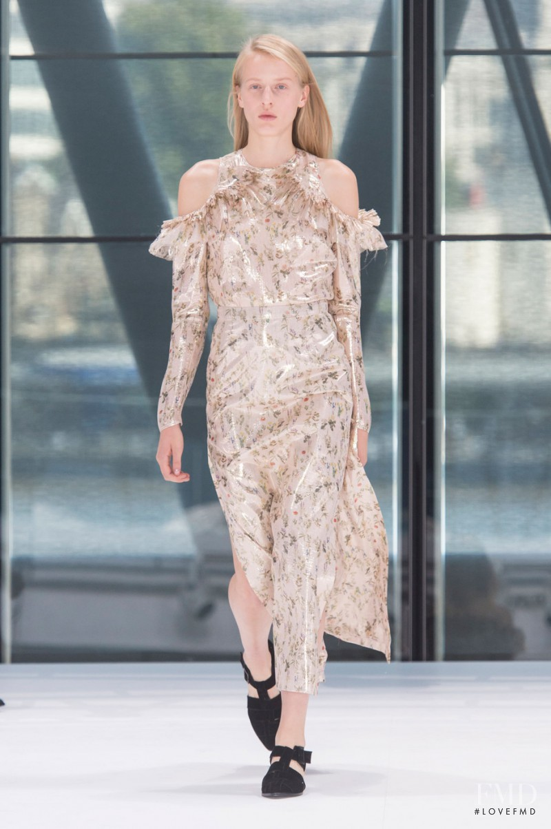 Anine Van Velzen featured in  the Preen by Thornton Bregazzi fashion show for Spring/Summer 2016