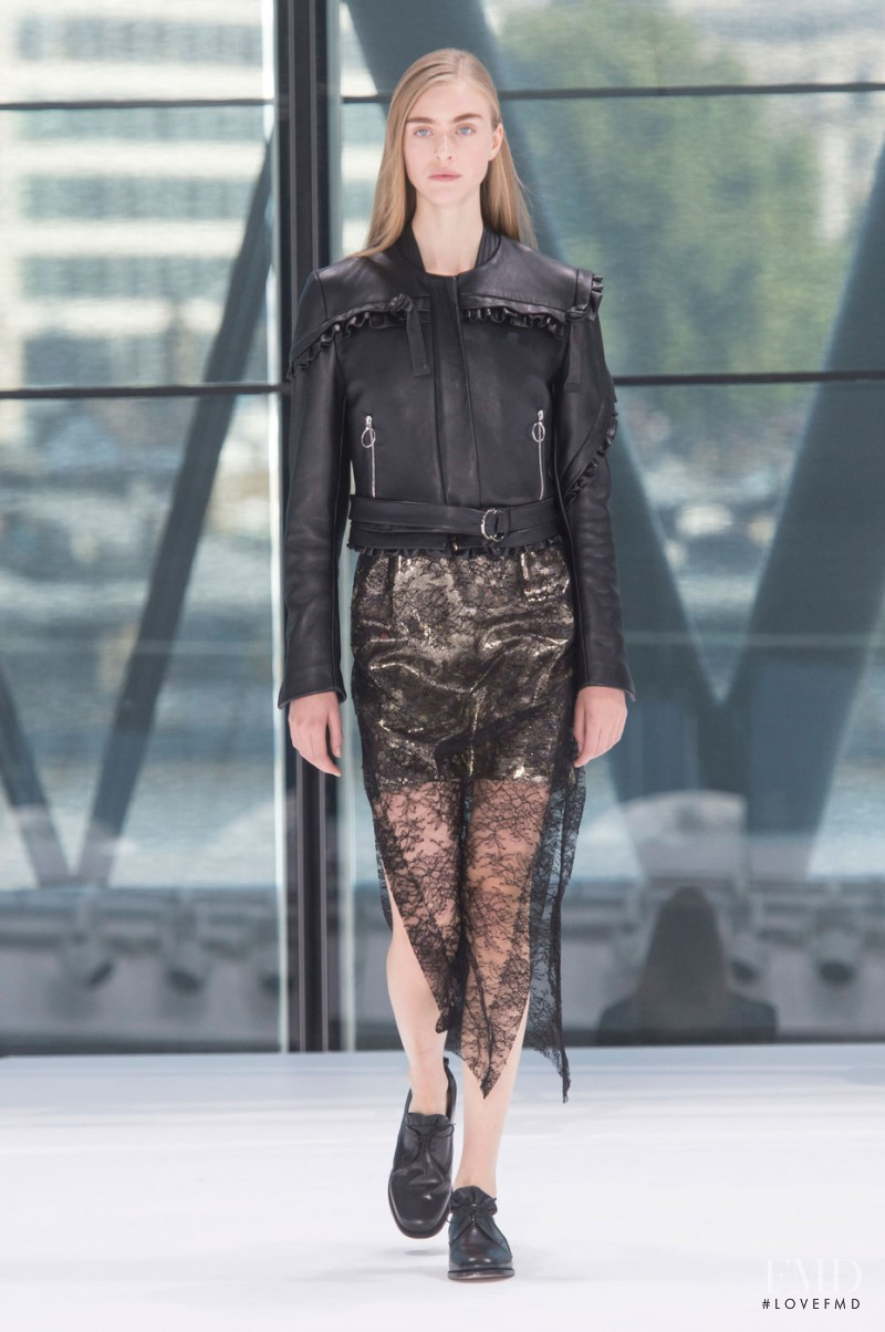 Hedvig Palm featured in  the Preen by Thornton Bregazzi fashion show for Spring/Summer 2016