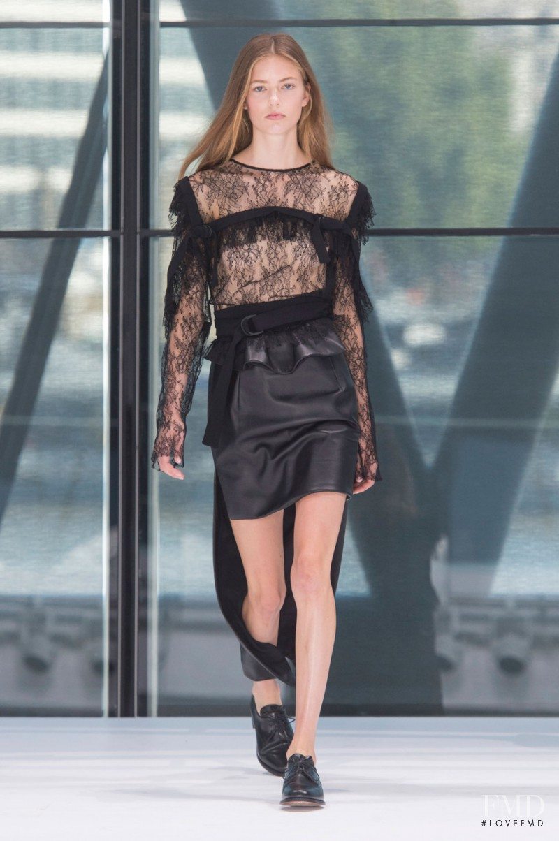 Emmy Rappe featured in  the Preen by Thornton Bregazzi fashion show for Spring/Summer 2016