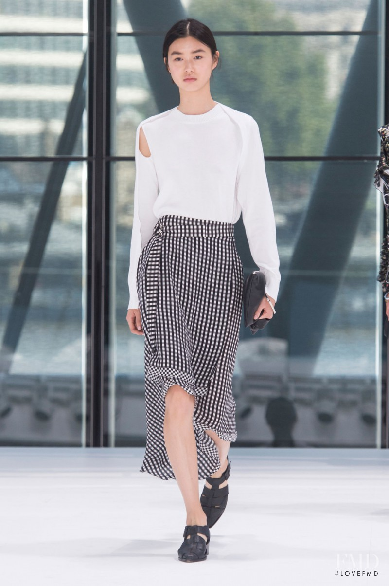 Estelle Chen featured in  the Preen by Thornton Bregazzi fashion show for Spring/Summer 2016