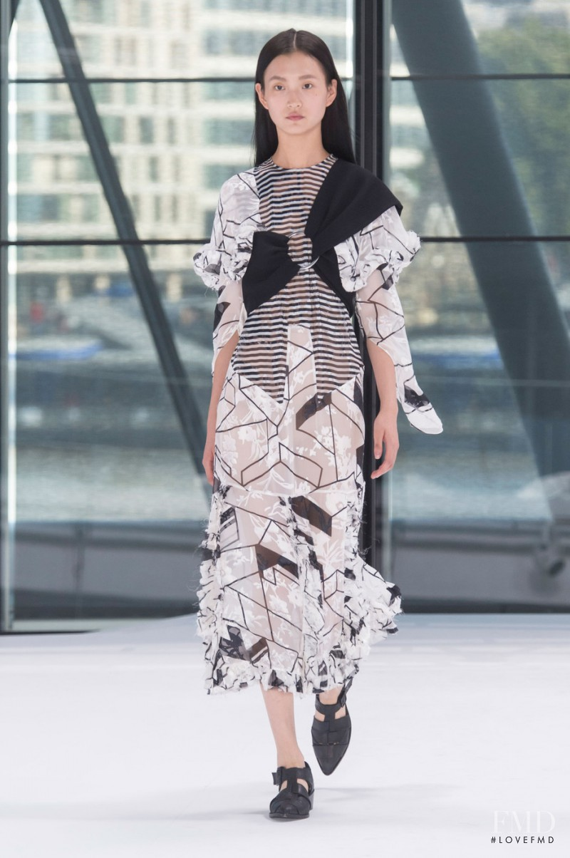Wangy Xinyu featured in  the Preen by Thornton Bregazzi fashion show for Spring/Summer 2016