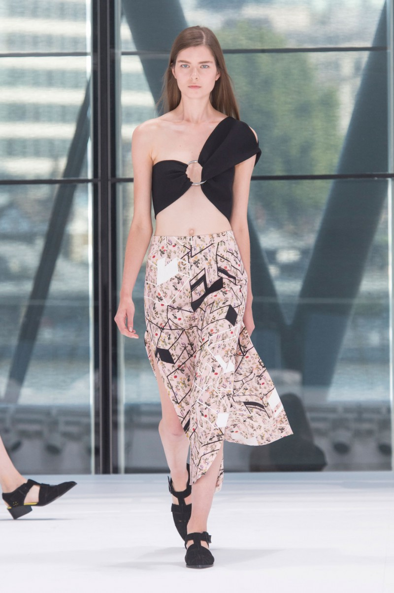 Gaby Loader featured in  the Preen by Thornton Bregazzi fashion show for Spring/Summer 2016