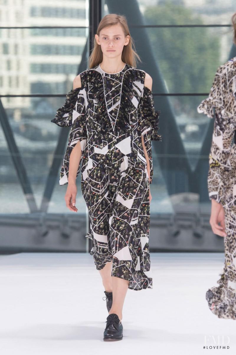Eva Saadi Schimmel featured in  the Preen by Thornton Bregazzi fashion show for Spring/Summer 2016