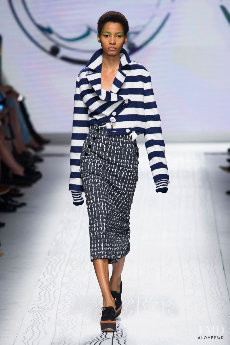 Lineisy Montero featured in  the Max Mara fashion show for Spring/Summer 2016