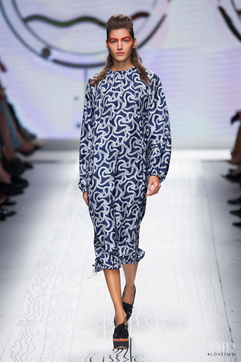 Valery Kaufman featured in  the Max Mara fashion show for Spring/Summer 2016