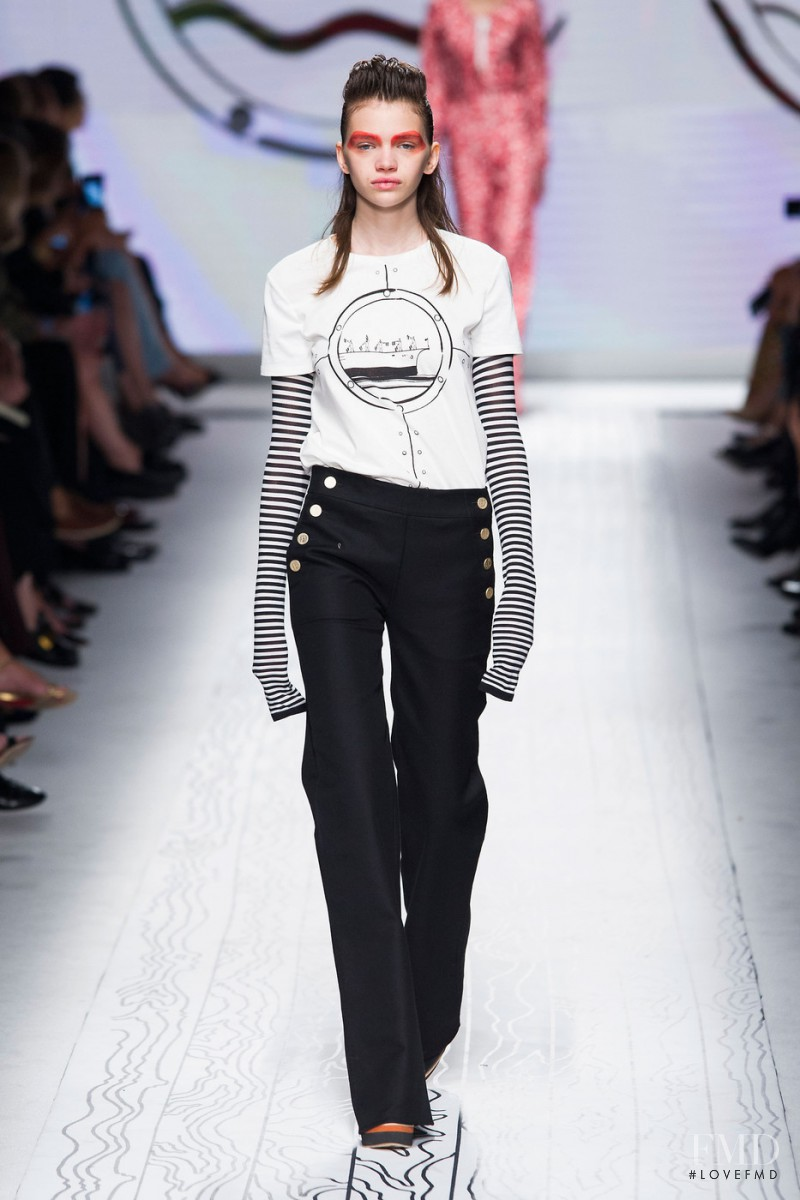 Stella Lucia featured in  the Max Mara fashion show for Spring/Summer 2016