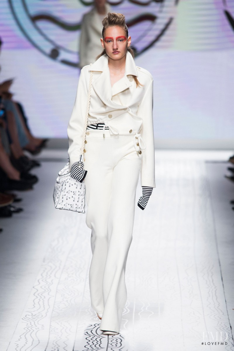 Agnes Nieske featured in  the Max Mara fashion show for Spring/Summer 2016
