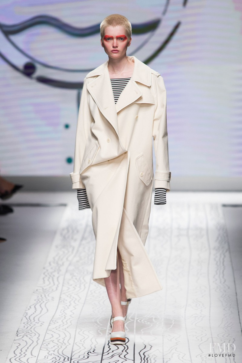 Ruth Bell featured in  the Max Mara fashion show for Spring/Summer 2016