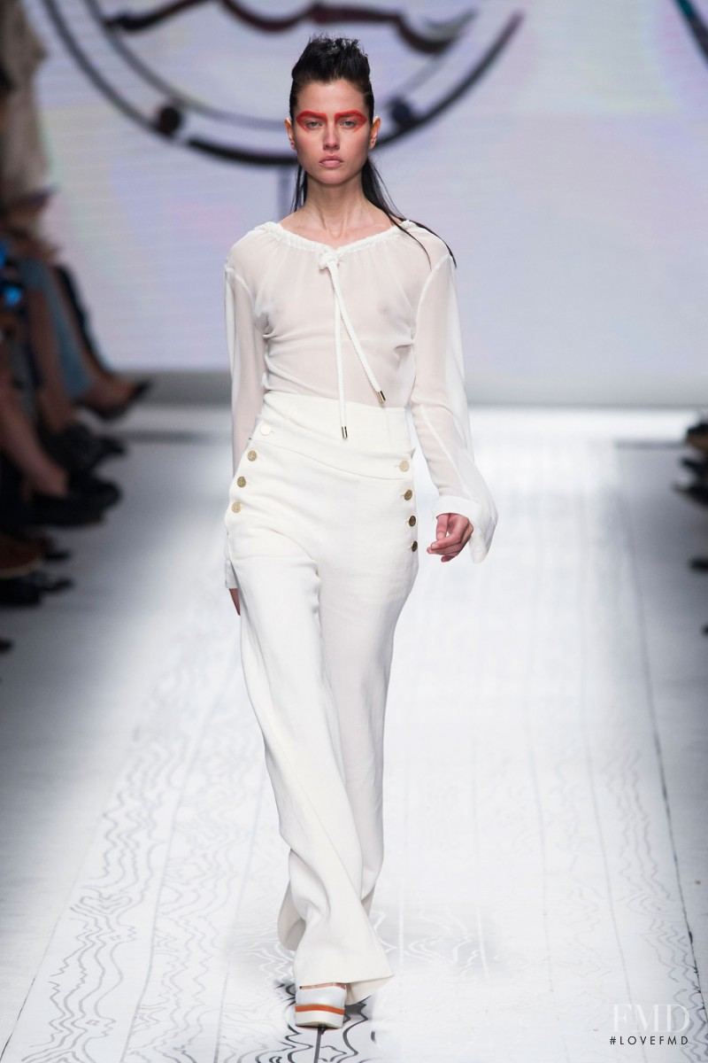 Isis Bataglia featured in  the Max Mara fashion show for Spring/Summer 2016