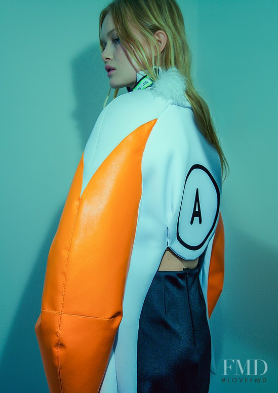 Alice Morgan featured in  the Mat Lee Yoko Oh! No advertisement for Spring/Summer 2015