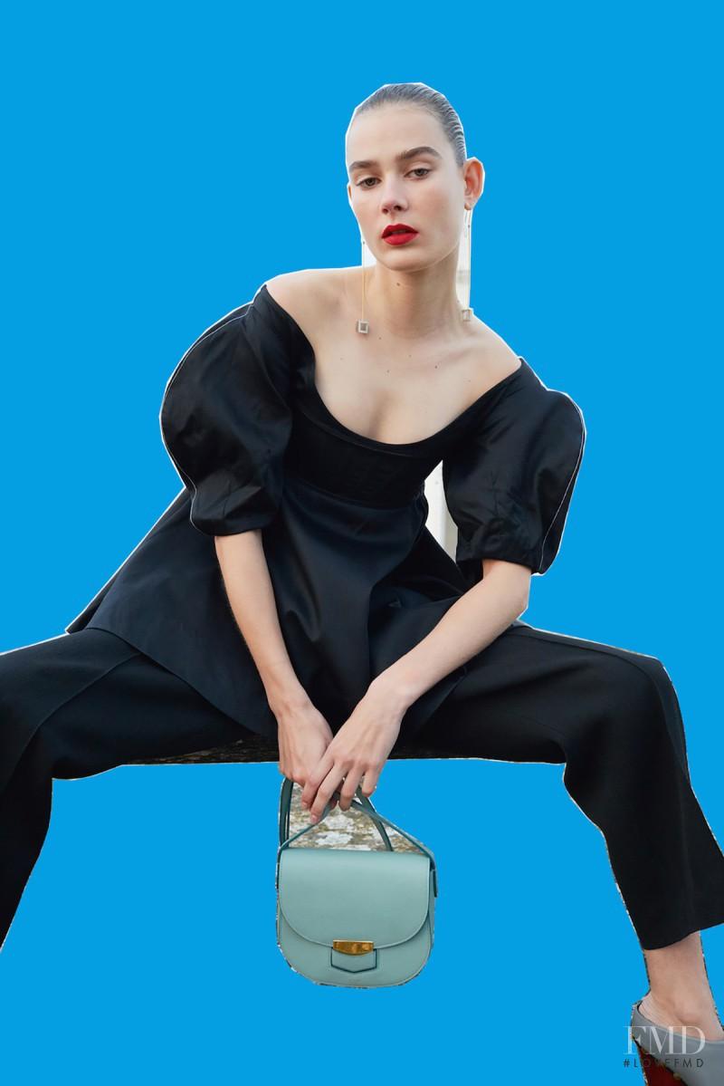 Vera Van Erp featured in  the Celine advertisement for Spring/Summer 2016