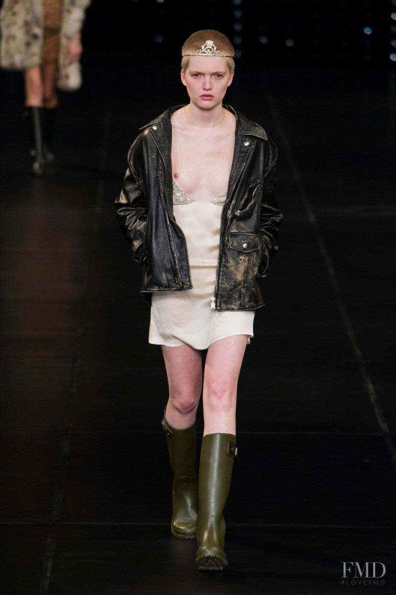 Ruth Bell featured in  the Saint Laurent fashion show for Spring/Summer 2016