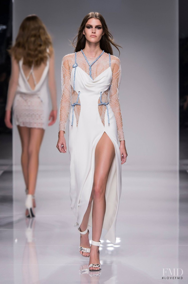 Vanessa Moody featured in  the Atelier Versace fashion show for Spring/Summer 2016