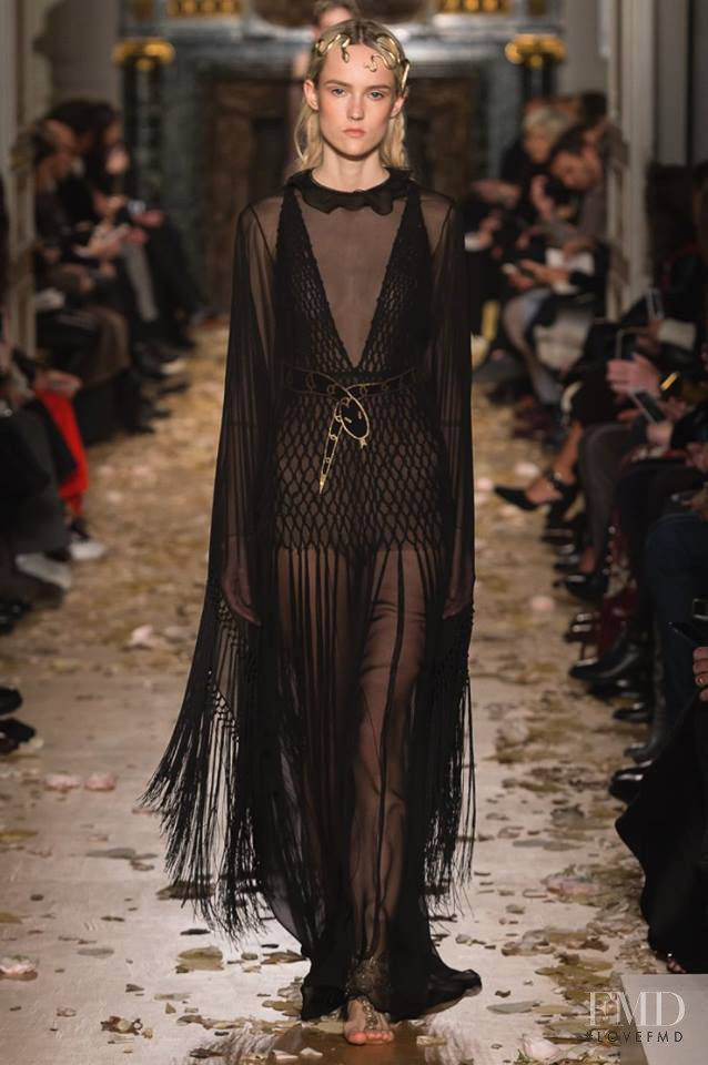 Harleth Kuusik featured in  the Valentino Couture fashion show for Spring/Summer 2016