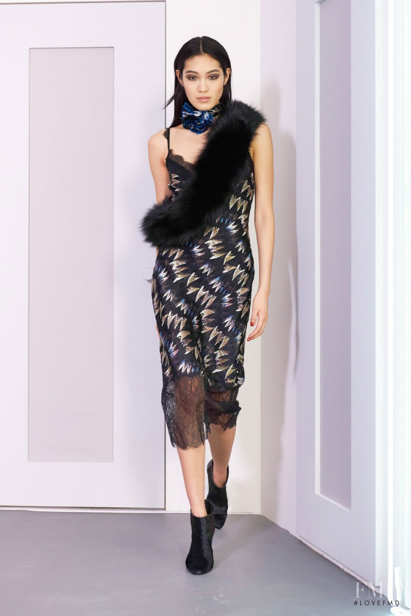 Chiharu Okunugi featured in  the Diane Von F�rstenberg fashion show for Autumn/Winter 2016