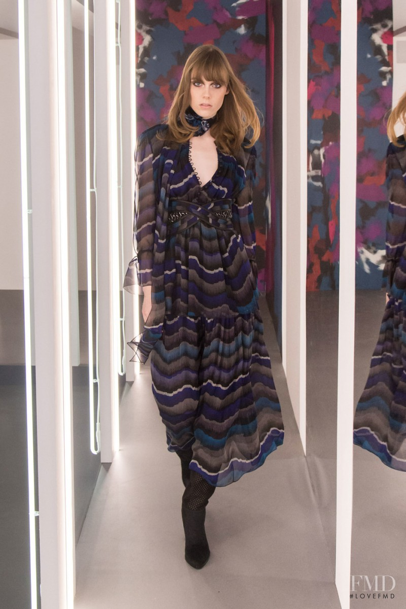 Kiki Willems featured in  the Diane Von F�rstenberg fashion show for Autumn/Winter 2016