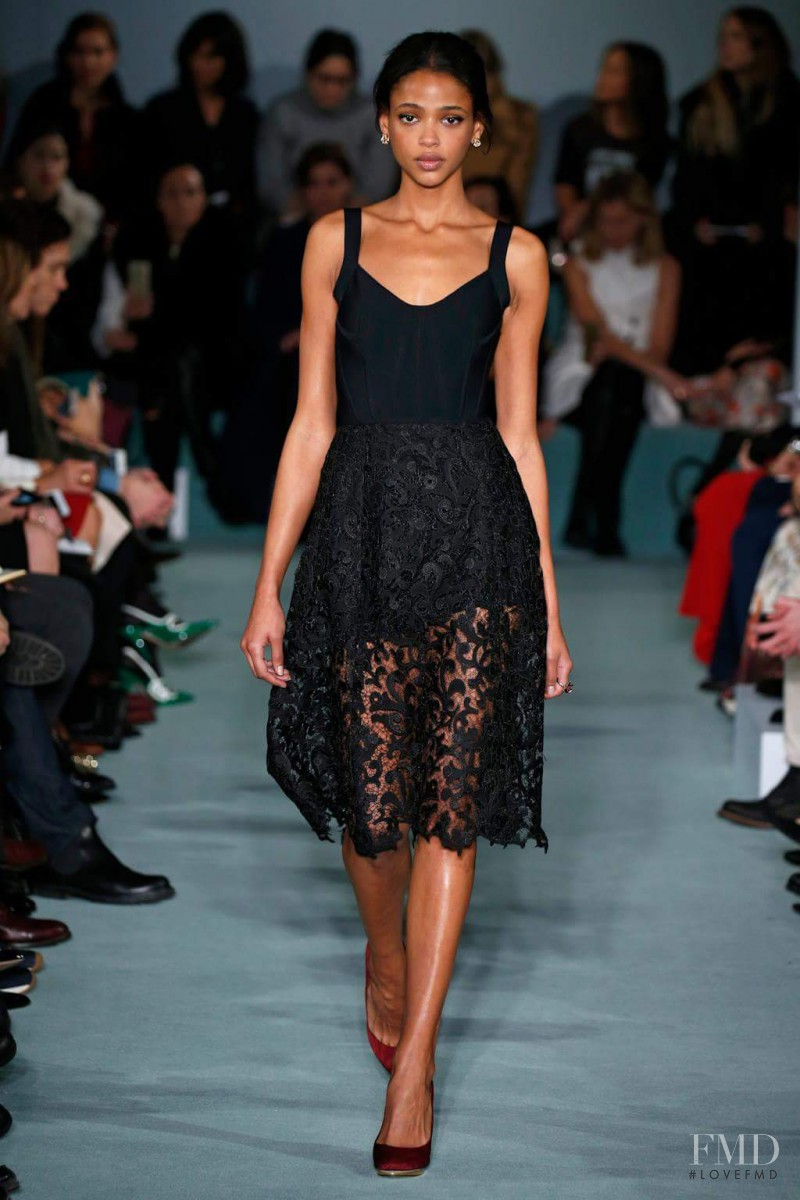 Aya Jones featured in  the Oscar de la Renta fashion show for Autumn/Winter 2016