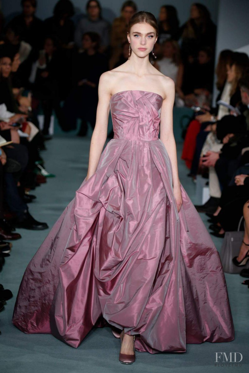 Odette Pavlova featured in  the Oscar de la Renta fashion show for Autumn/Winter 2016
