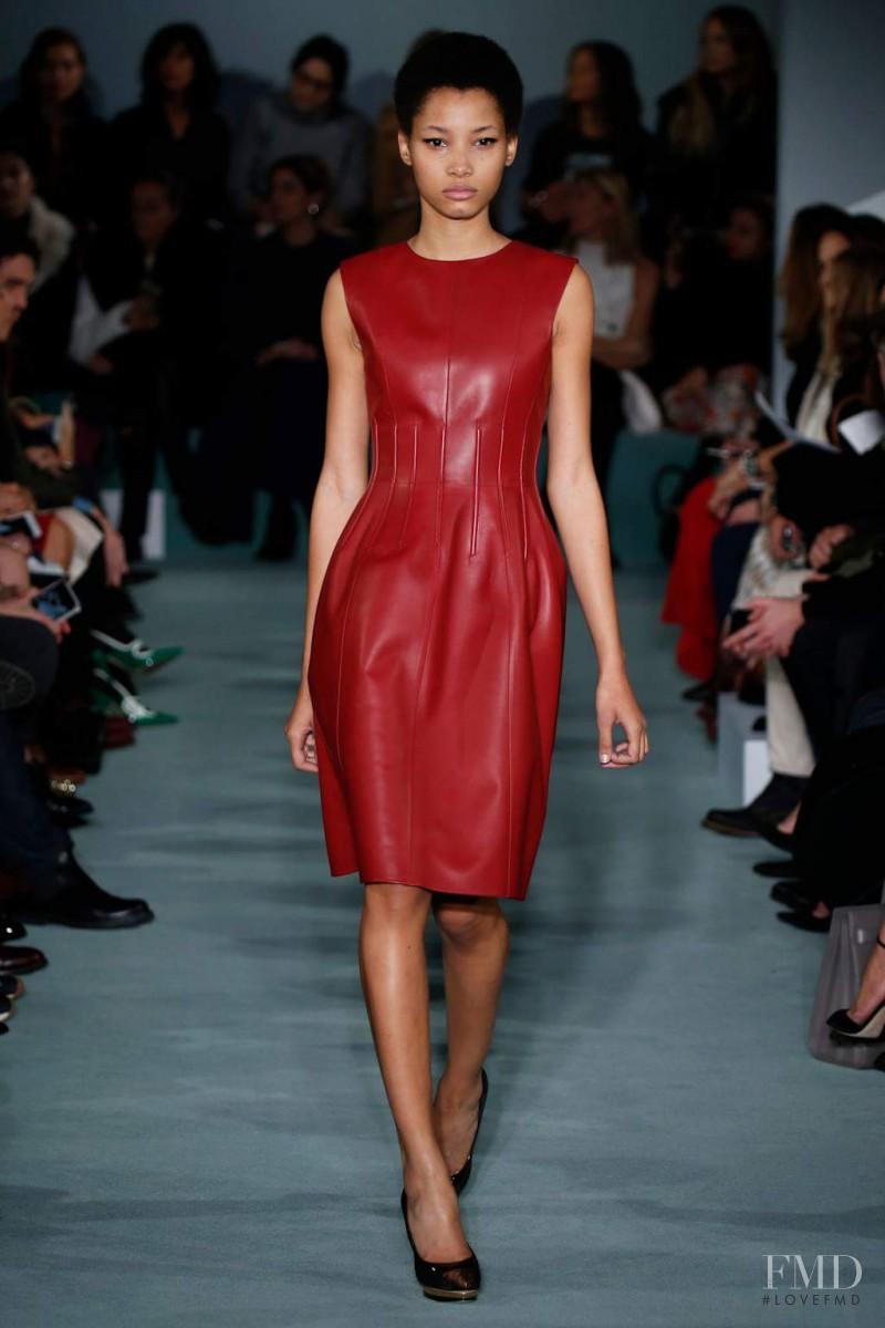 Lineisy Montero featured in  the Oscar de la Renta fashion show for Autumn/Winter 2016