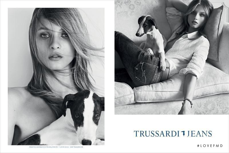 Anna Selezneva featured in  the Trussardi Jeans advertisement for Spring/Summer 2013