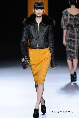 Ming Xi featured in  the Juanjo Oliva fashion show for Autumn/Winter 2012