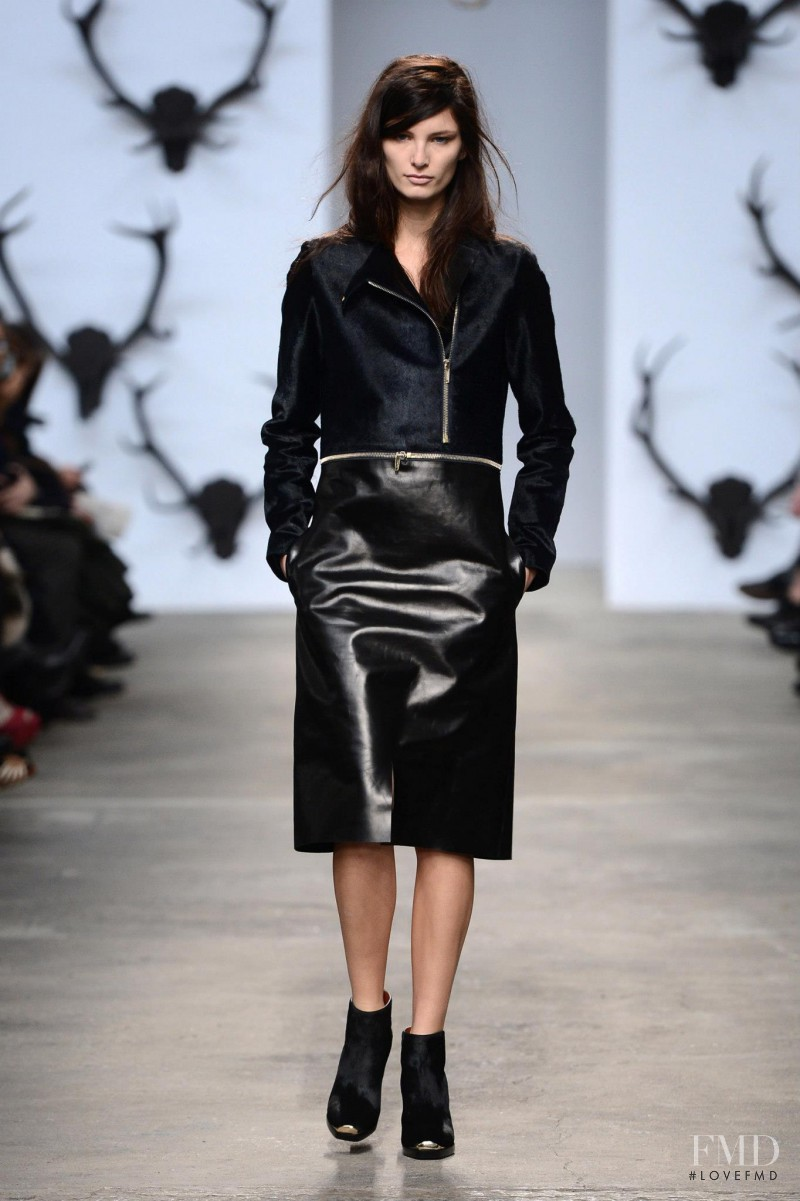 Ava Smith featured in  the Trussardi fashion show for Autumn/Winter 2013