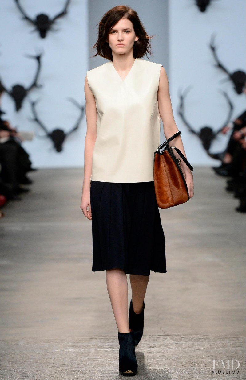 Katlin Aas featured in  the Trussardi fashion show for Autumn/Winter 2013
