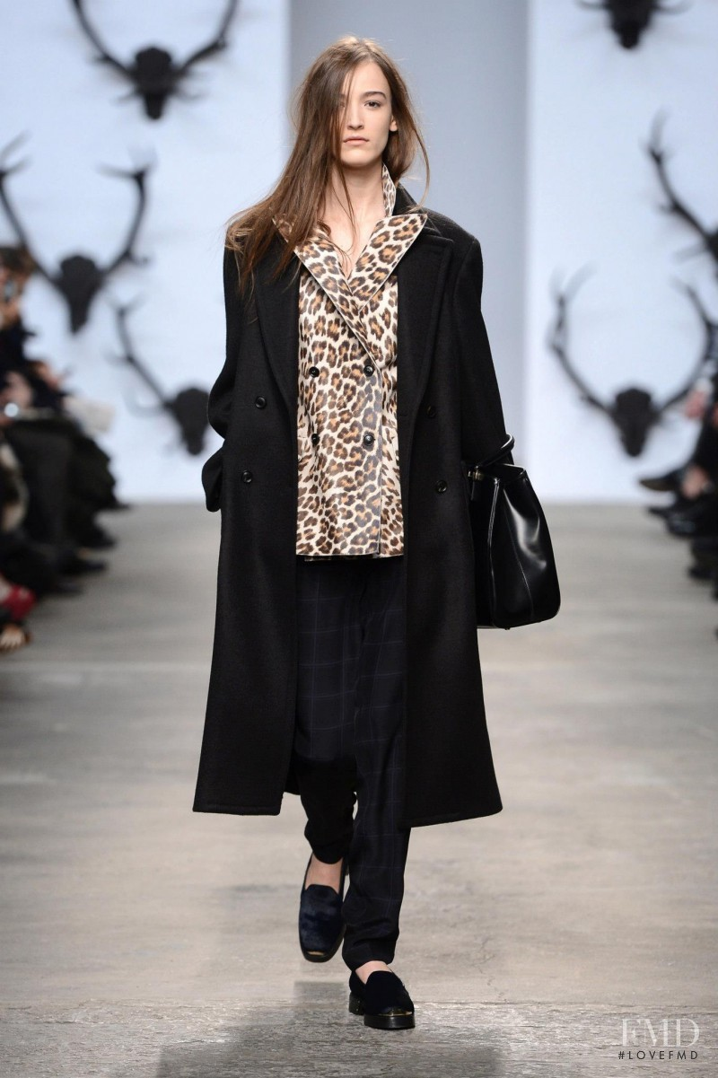 Lula Osterdahl featured in  the Trussardi fashion show for Autumn/Winter 2013