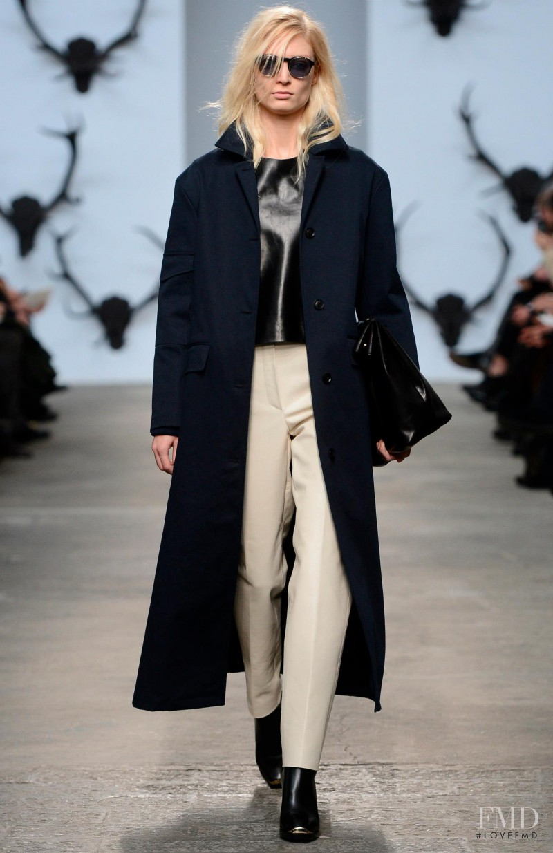 Melissa Tammerijn featured in  the Trussardi fashion show for Autumn/Winter 2013