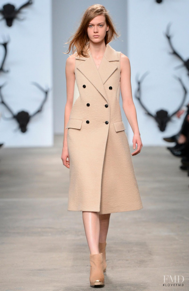 Tess Hellfeuer featured in  the Trussardi fashion show for Autumn/Winter 2013