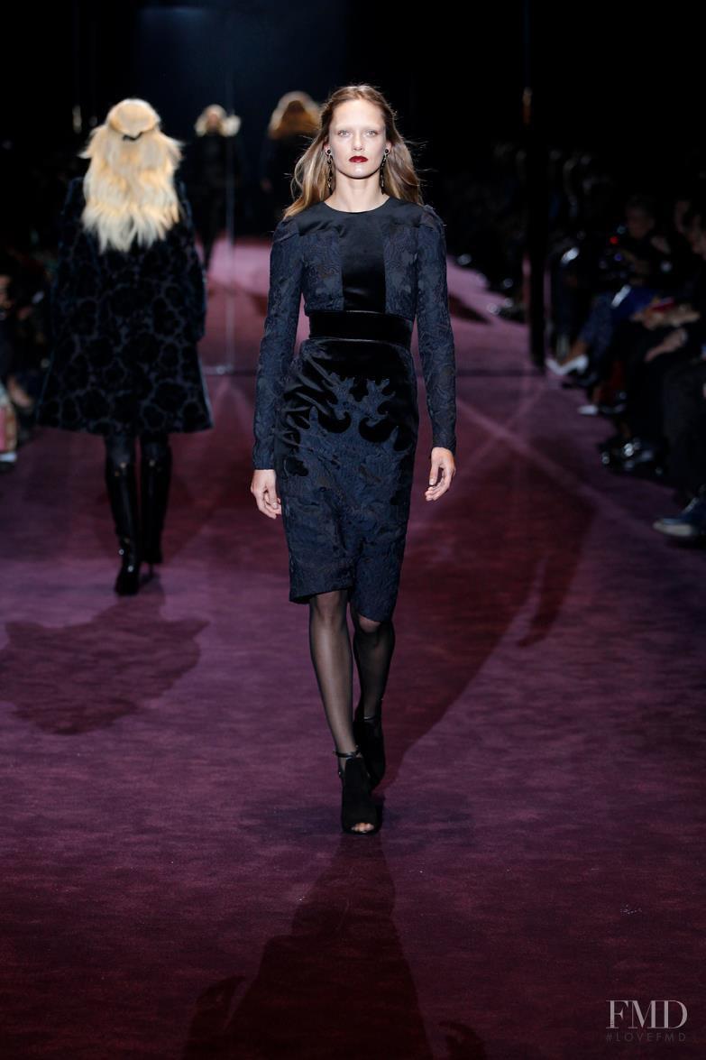 Karmen Pedaru featured in  the Gucci fashion show for Autumn/Winter 2012