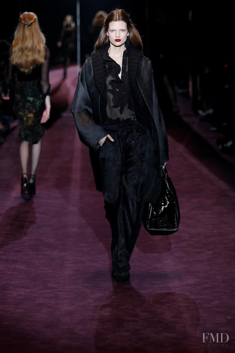 Bette Franke featured in  the Gucci fashion show for Autumn/Winter 2012