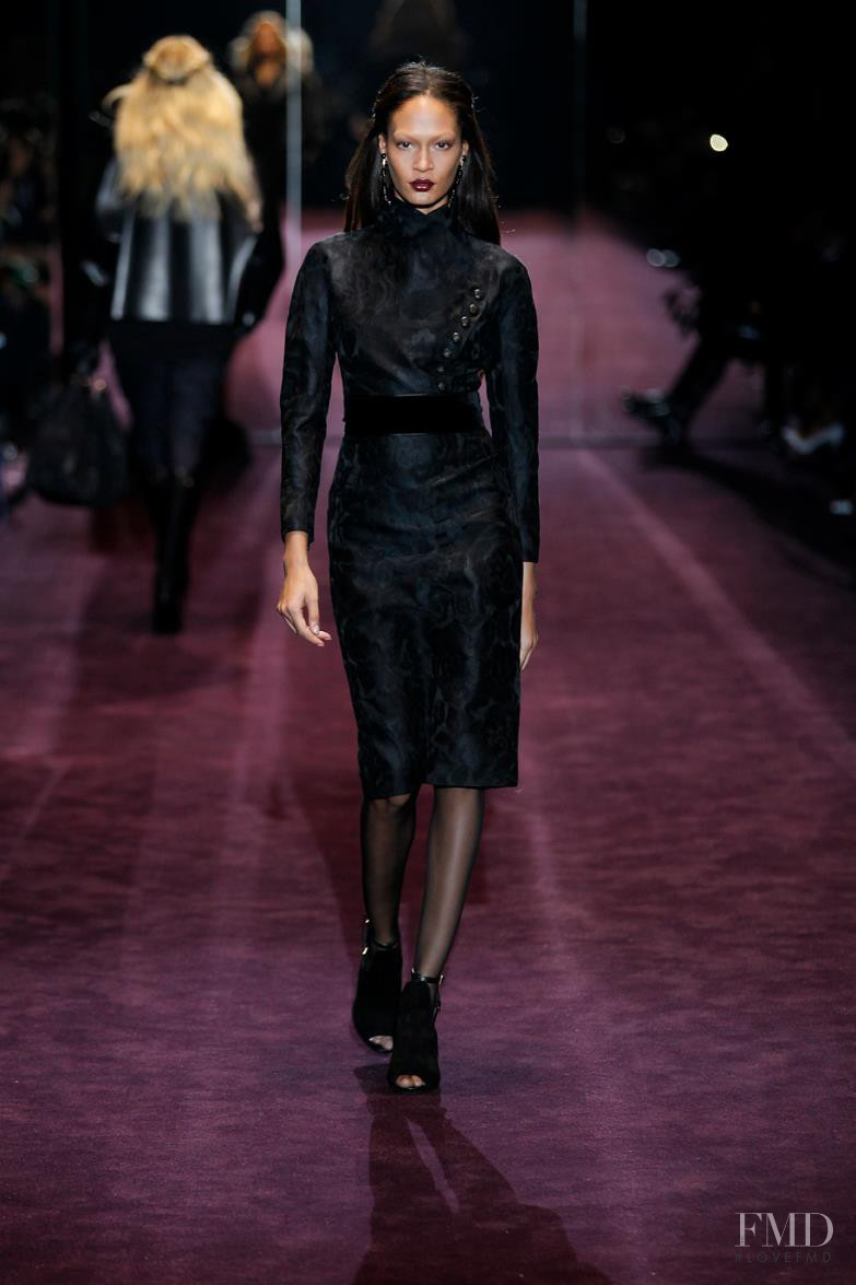 Joan Smalls featured in  the Gucci fashion show for Autumn/Winter 2012