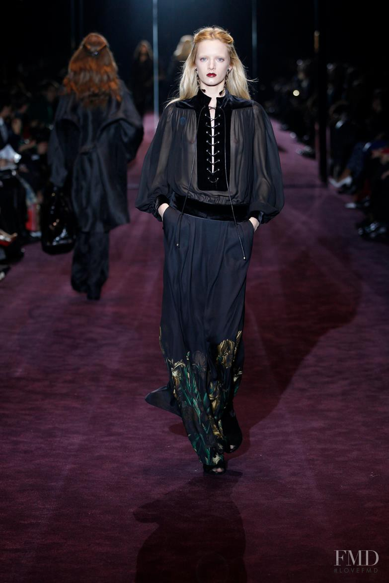 Daria Strokous featured in  the Gucci fashion show for Autumn/Winter 2012