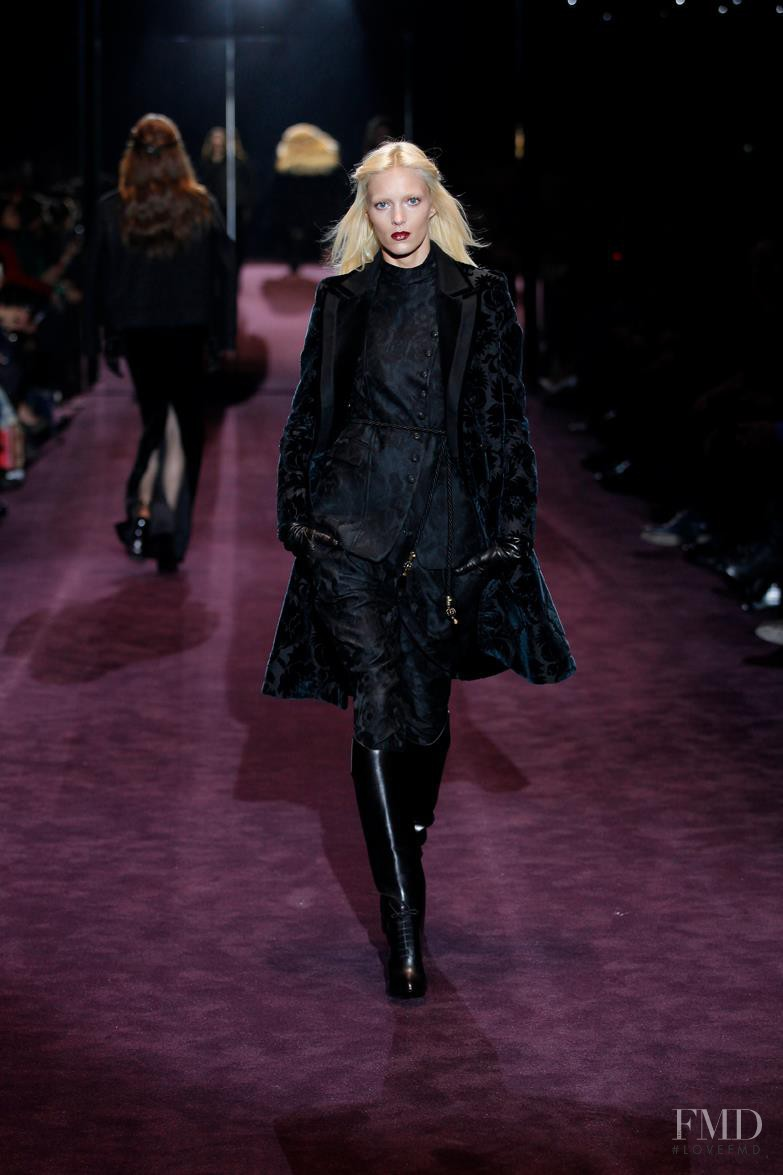 Anja Rubik featured in  the Gucci fashion show for Autumn/Winter 2012