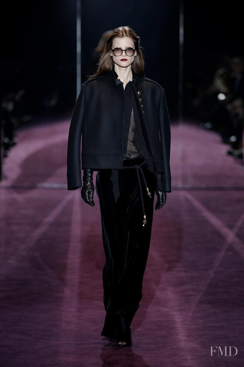Kasia Struss featured in  the Gucci fashion show for Autumn/Winter 2012