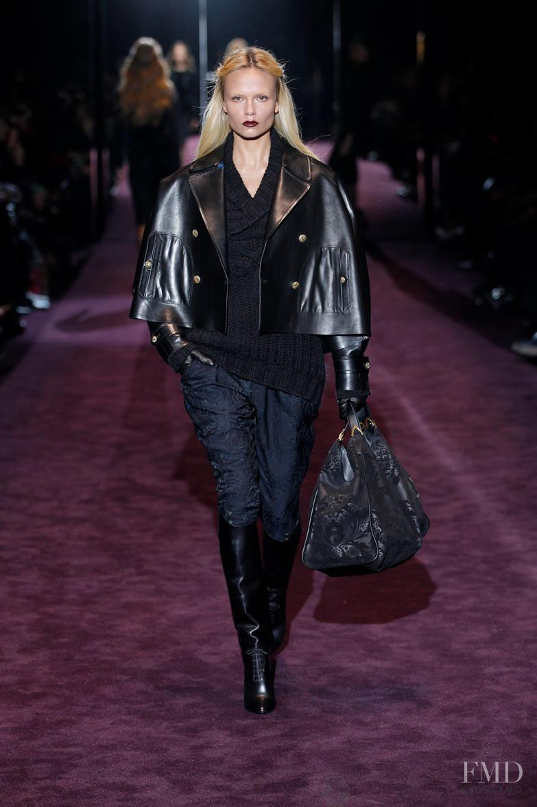 Natasha Poly featured in  the Gucci fashion show for Autumn/Winter 2012