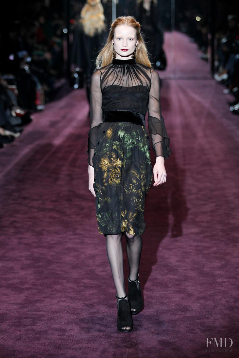 Maud Welzen featured in  the Gucci fashion show for Autumn/Winter 2012