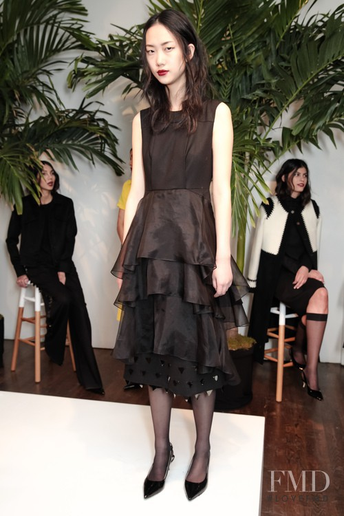 Jiaye Wu featured in  the Charles Youssef fashion show for Autumn/Winter 2015